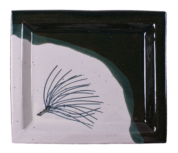 Pine Needles Serving Tray by Davy Pottery