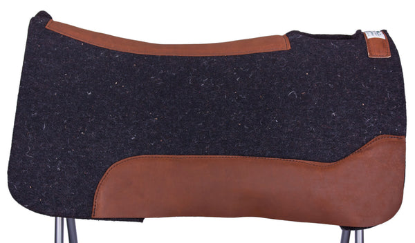 Black Gold Contoured Performance Saddle Pad by Diamond Wool Pad Co.
