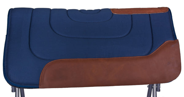 Super Roper and Barrel Racing Saddle Pad in Navy by Diamond Wool Pad Co.