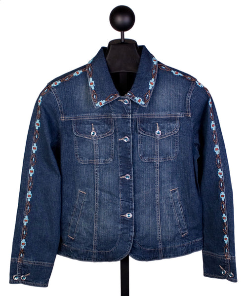 Beaded Vintage Denim Jacket by Ethyl Denim