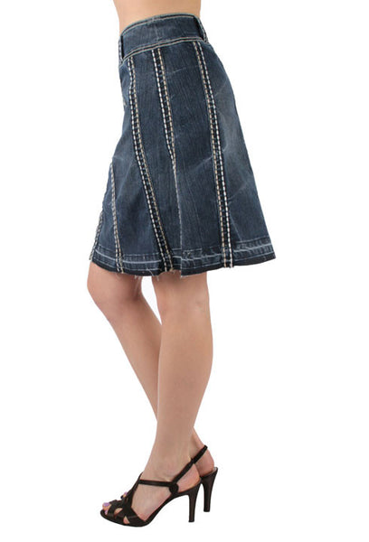 Flared Denim Skirt by Ethyl Denim