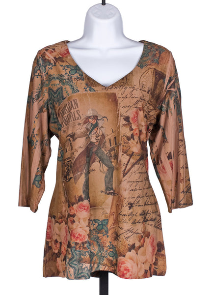 American Cowgirl Tunic Top by Fantazia