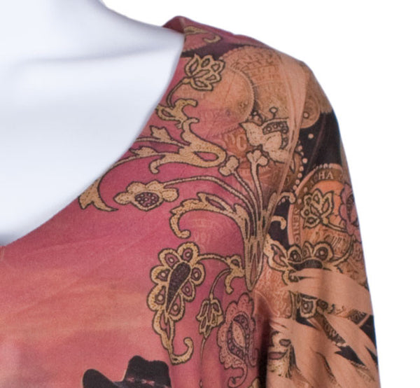 Cowgirl Rose Tunic Top by Fantazia
