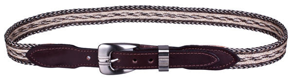 Casual Braided Horsehair Belt in Brown by Colorado Horsehair
