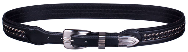 Braided Horsehair Inlay Belt in Black by Colorado Horsehair
