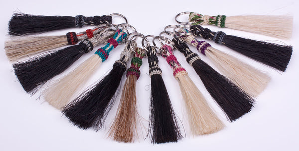 Braided Horsetail Mini Keyring by Colorado Horsehair