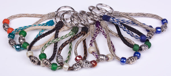 Braided Loop Beaded Keyring by Colorado Horsehair