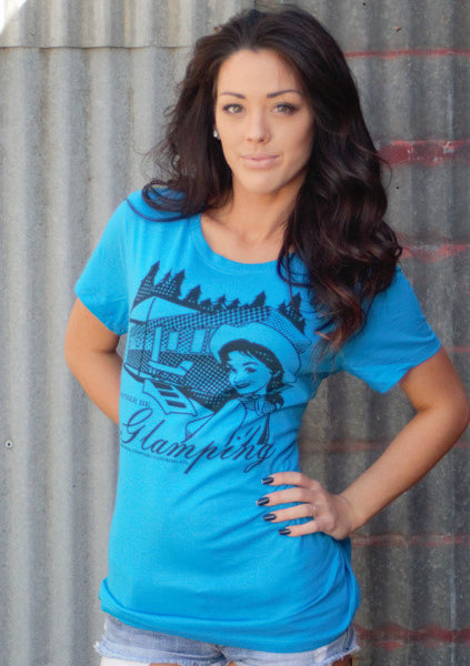 Glamping Tee Shirt by Original Cowgirl Clothing Co.