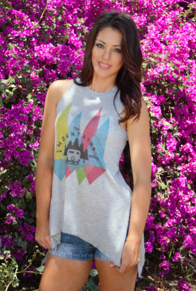 The Mountains are Calling Tank Shirt by Original Cowgirl Clothing Co.