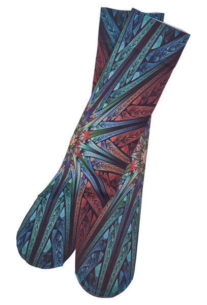 Star Fractal Boot Socks - Women's by Inkstables