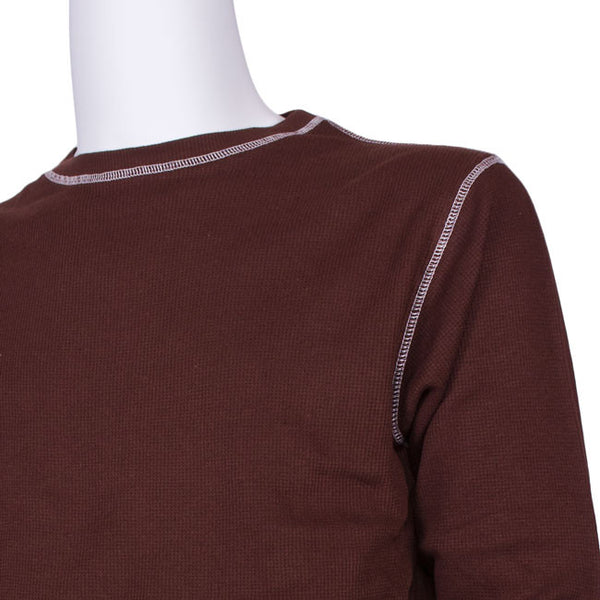 Vintage Thermal Tee Shirt in Brown by J. America