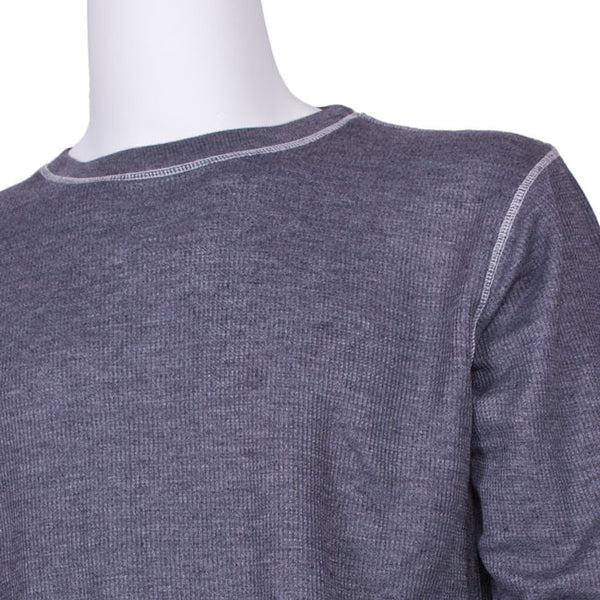 Vintage Thermal Tee Shirt in Charcoal by J. America