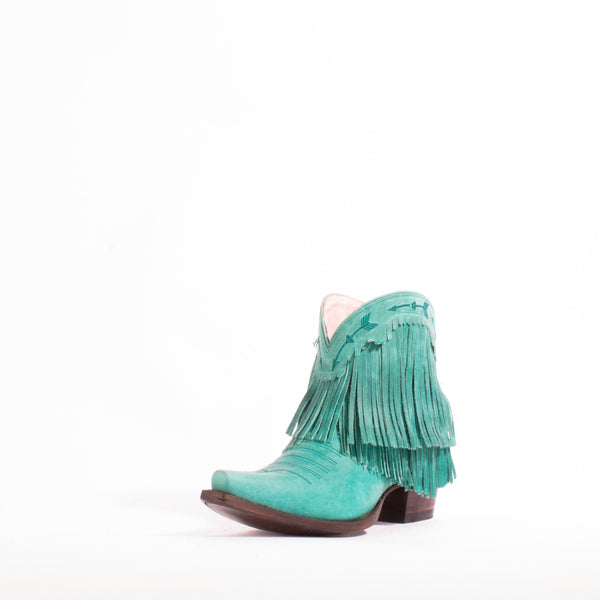 Spitfire Cowboy Boot in Waxed Turquoise by Junk Gypsy Co.