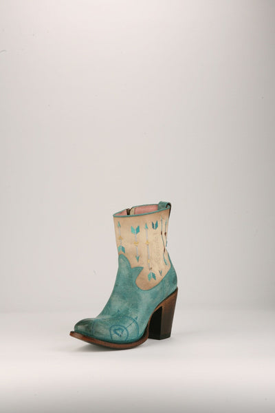 Wanderlust Cowboy Boot in Turquoise and Bone by Junk Gypsy Co.