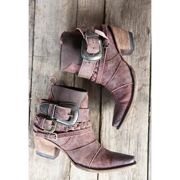 Hwy 237 Cowboy Boot in Distressed Wine by Lane Boots for Junk Gypsy Co.