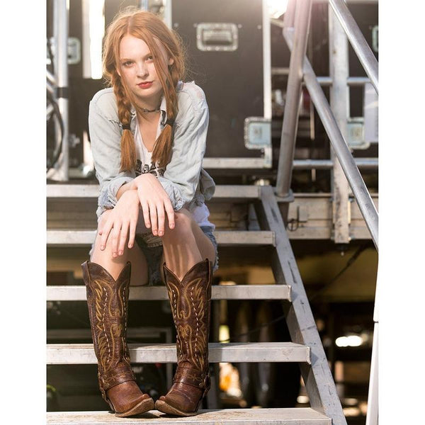Vagabond Cowboy Boot in Mocha by Lane Boots for Junk Gypsy Co.