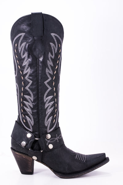 Vagabond Cowboy Boot in Black by Lane Boots for Junk Gypsy Co.