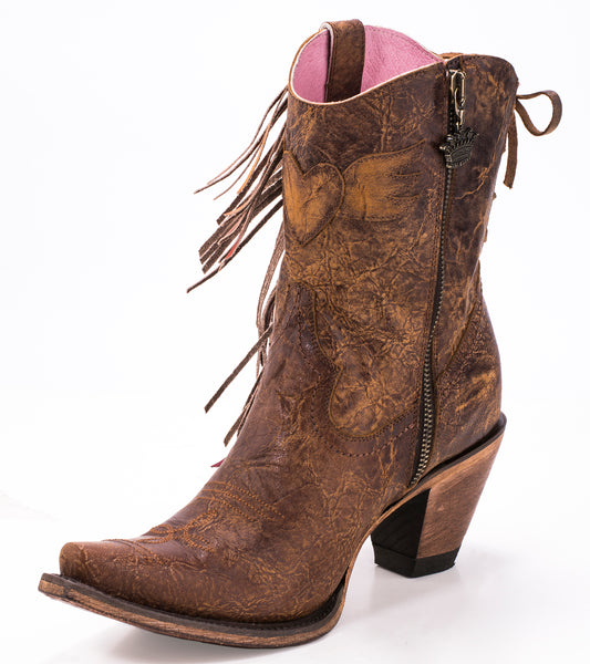 Spirit Animal Shortie Cowboy Boot in Brown by Junk Gypsy Co.
