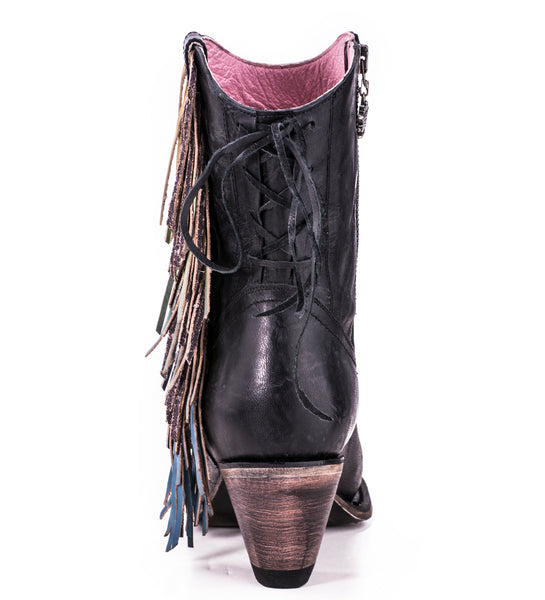 Spirit Animal Shortie Cowboy Boot in Black by Junk Gypsy Co.