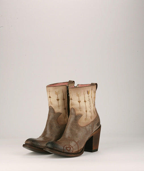 Wanderlust Cowboy Boot in Brown and Bone by Junk Gypsy Co.
