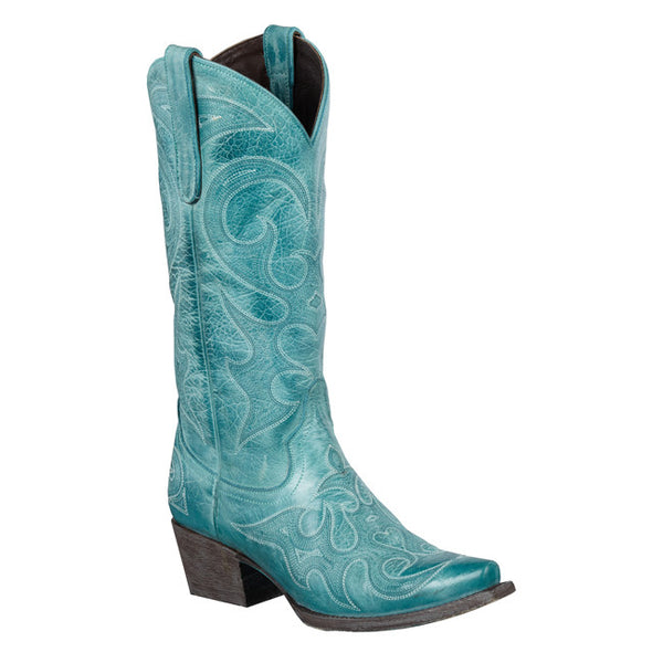Love Sick Cowboy Boot in Turquoise by Lane Boots