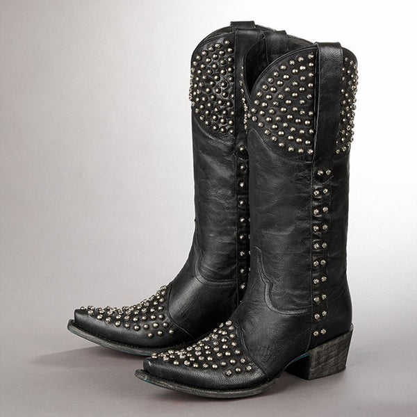 Rock On Cowboy Boot in Black by Lane Boots