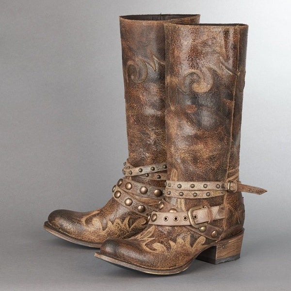 Paradise Cowboy Boot in Tan by Lane Boots