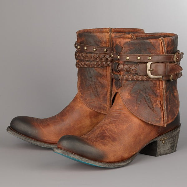 Dove Cowboy Boot in Honey by Lane Boots