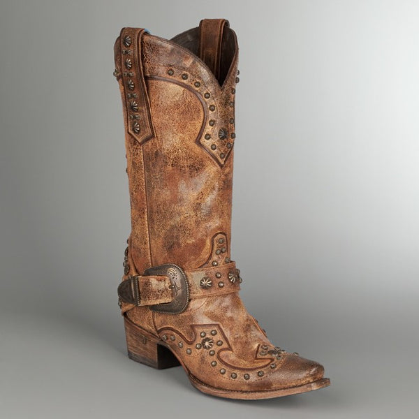 Your Harness Cowboy Boot in Tan by Lane Boots