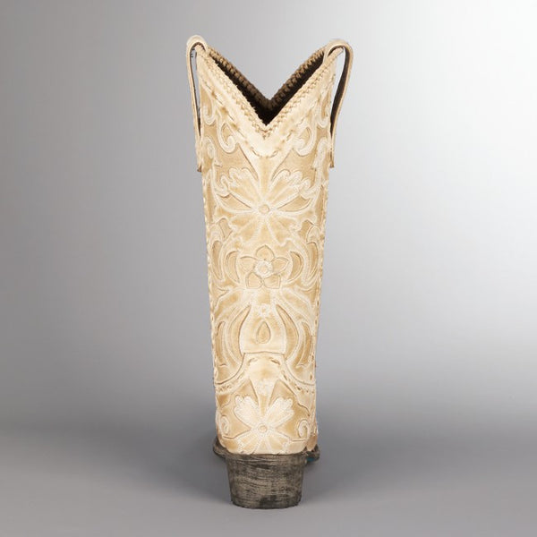 Robin Cowboy Boot in Bone by Lane Boots