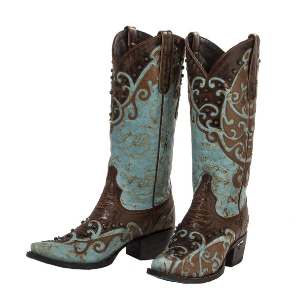 Veranda Cowboy Boot in Turquoise by Lane Boots