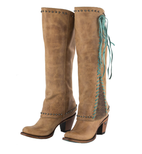 Hoodie Cowboy Boot in Tan by Lane Boots