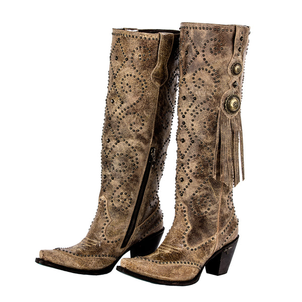 Conchita Cowboy Boot in Tan by Lane Boots