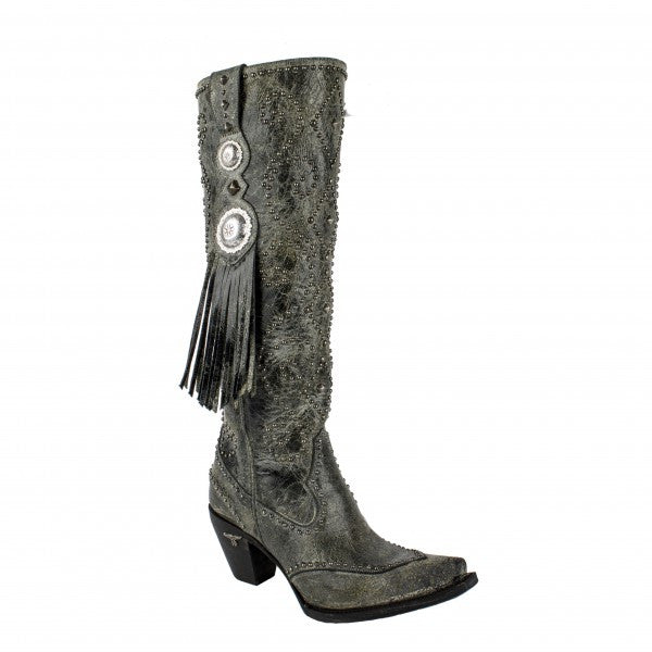 Conchita Cowboy Boot in Black by Lane Boots