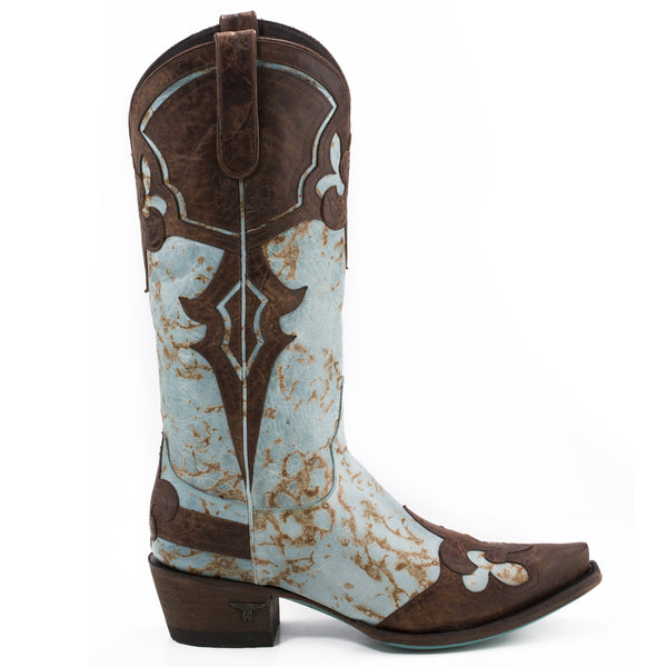 Masquerade Cowboy Boot in Turquoise by Lane Boots
