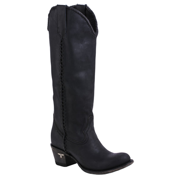 Plain Jane Cowboy Boot in Black by Lane Boots
