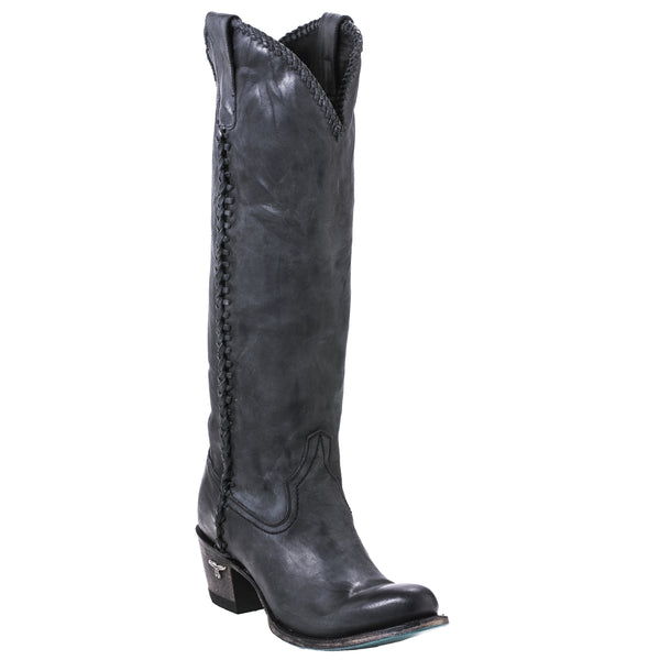 Plain Jane Cowboy Boot in Charcoal by Lane Boots