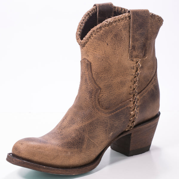 Plain Jane Shortie Cowboy Boot in Brown by Lane Boots