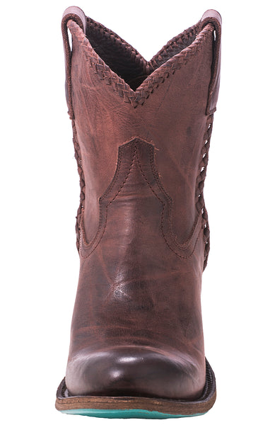Plain Jane Shortie Cowboy Boot in Wine by Lane Boots