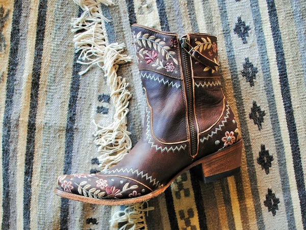 Landrun Gardens Cowboy Boot in Brown by Lane Boots