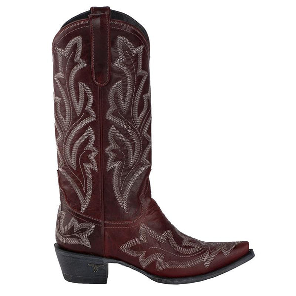 Saratoga Cowboy Boot in Cherry by Lane Boots