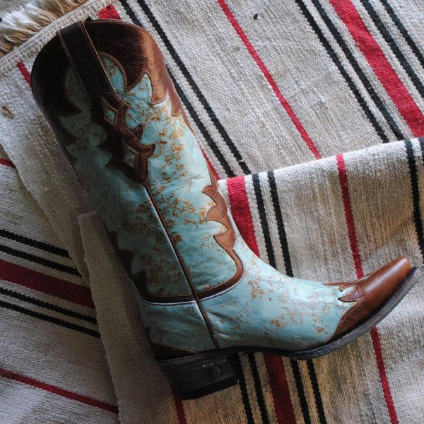 Diamond Dust Cowboy Boot in Turquoise by Lane Boots