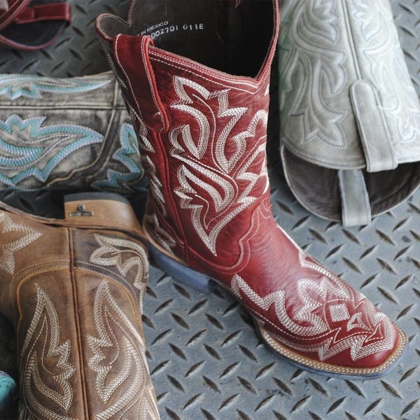 Saratoga Square Toe Cowboy Boot in Cherry by Lane Boots