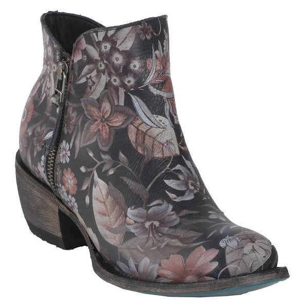 Moonflower Cowboy Boot in Black by Lane Boots