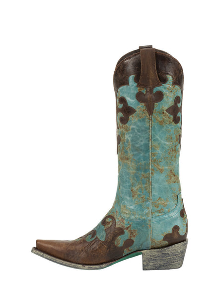 Dawson Cowboy Boot - Turquoise by Lane Boots