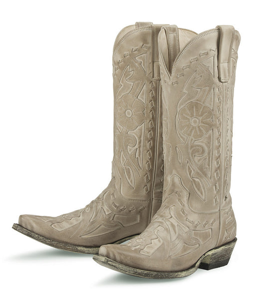 Poison Cowboy Boot - Distressed Bone by Lane Boots