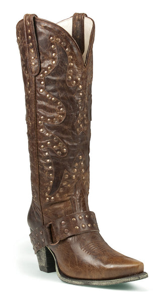 Stud Rocker Cowboy Boot in Brown by Lane Boots