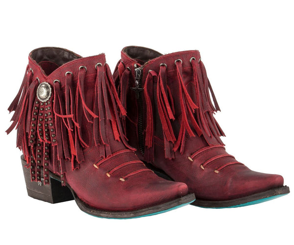Suzanne Cowboy Boot in Red by Lane Boots