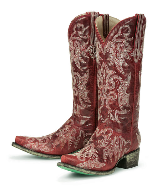 Wild Ginger Cowboy Boot - Red by Lane Boots