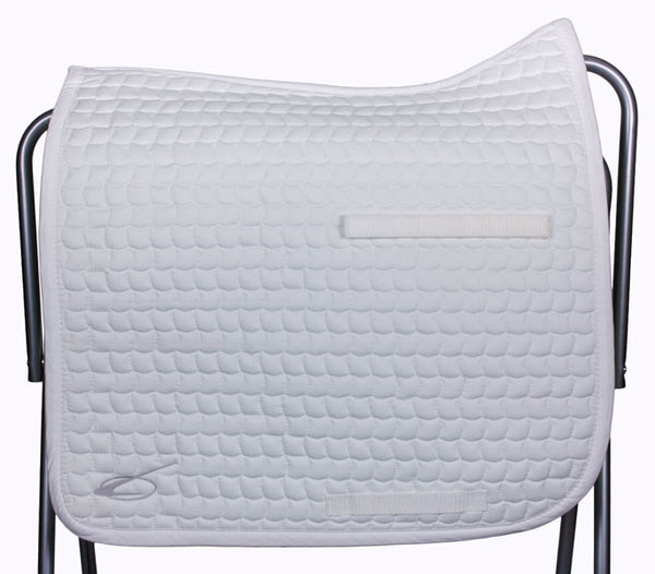 Diamant Dressage Saddle Pad in White by Lami-Cell